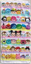 Tsum Tsum Mickey & Friends Cartoon White 30 X 60 Cm Every Day Use Cotton Towel - $9.99
