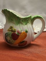 "Vintage LEFTON'S Japan small CREAMER milk/syrup Veggie design 1297 3 1/2"" tall"