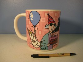 "Maxine Giant Birthday Mug Hallmark Shoebox Greetings ""Old Age is In Your... - $6.18"