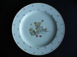 "Mikasa Fine China Teddy Bear Dinner / Luncheon Plate 9-7/8"" Dia Childs - $13.36"