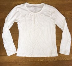 ! childrens place solid white layering top tee shirt size medium 7 - 8 g... - $5.79