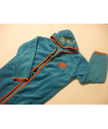 Kids Blue Bathrobe With Hood 100% Polyester size 7/8 Sweet Monsters - $11.98