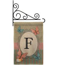 Butterflies F Initial Burlap - Impressions Decorative Metal Fansy Wall B... - $33.97