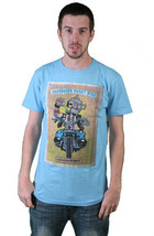 Cardboard Robot Mens Light Blue CBR Kids Beer Drinking Motor Cyclist T-Shirt NWT image 1