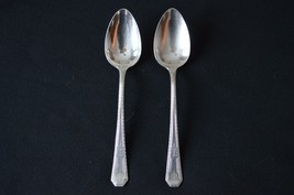 Wm Rogers MFG co Silver Anniversary 1937 Set of 2 Serving Spoons - $7.92