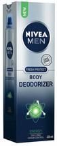 Nivea Men Fresh Protect Body Deodorizer Energy, 120 Ml Long Expiry Free Ship - $11.87