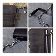 On Sale, Horse Leather Long Wallet, Card Holder Wallet, Long Chain Wallet image 6