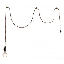Zuo Molly Modern Polyester Braided Wire Ceiling Lamp - Brass - $60.00