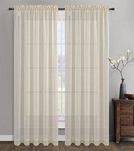 Urbanest 54-inch by 84-inch Sahara Set of 2 Linen Sheer Curtain Drapery Panels,  - $31.67
