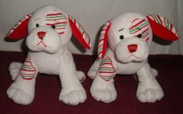 Peppermint Dogs Lot Of 2 Ganz Web Kinz Stuffed Animal Plushies - $14.80
