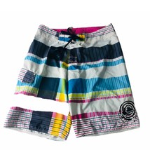 Quicksilver Mens Swim Trunks Board Shorts size 30 pink blue color block ... - $13.99