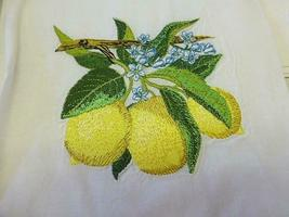 4 Fingertip Guest Towel Bathroom APPLE / LEMON Stitched Embroidered NEW in Bag image 4
