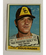Topps 1976 Doug Radar Traded To San Diego Baseball Card Sports Extra Ver... - $13.99