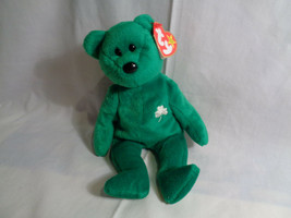 1997 Ty Beanie Baby Erin Irish Bear with Tags / Stamped Tush Tag - $2.23