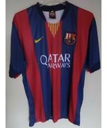 Vintage FCB FC Lionel Messi # 10 Soccer Jersey Men XL Official Licensed ... - $50.59