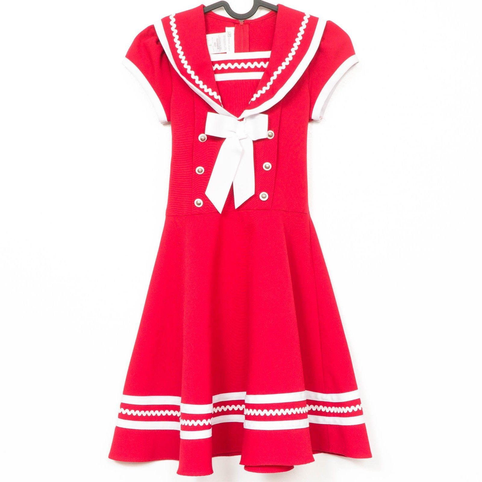 4cf11b656f5 Bonnie Jean Sailor Dress 7 Girls Red Collar and 30 similar items. S l1600