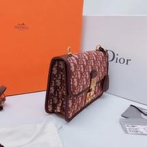 NEW AUTH Christian Dior Red Monogram Messenger Crossbody Bag  image 4