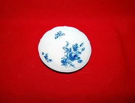 Miessen Porcelain Blue Rose Butterfly Small Peaked Rimmed Plate 19th Cen... - $175.00