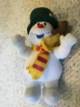 """12"""" Frosty the Snowman Hat With Pipe Christmas Plush Musical Singing 2003 - $27.99"""