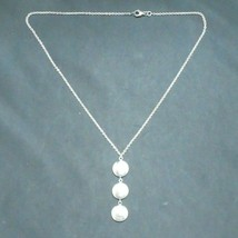 Authentic Tiffany & Co 925 Sterling Silver Italy Triple Circle Disc Drop... - $197.01