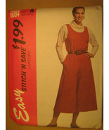 UNCUT Pattern 1992 EASY McCall SIZE Misses 6 8 10 12 Skirt JUMPER 6084 [... - $4.51