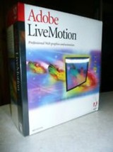 Adobe Livemotion 1.0 Competitive/Companion Upgrade [Old Version] NIB FREE SHIP - $15.83