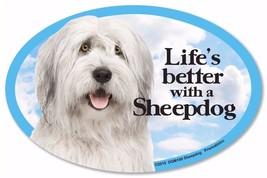 Life's Better With A Sheepdog Dog Car Fridge Plastic Magnet - $6.61