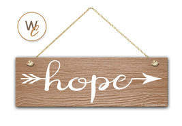 "Hope Sign, 5.5"" x 17"" Wood Sign, Rustic Home Decor, Tribal Arrow, Inspir... - $20.25"