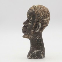 Vintage Hand Carved Stone African Head Bust Small - $69.29
