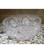 Avitra Crystal Hand Cut 24% Lead Crystal Footed Center Piece Bowl Heavy ... - $35.00