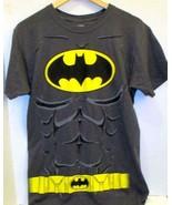 DC COMICS BATMAN T-SHIRT WITH CAPE HALLOWEEN COSTUME COSPLAY ADULT SMALL - $6.99