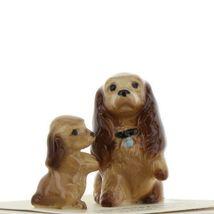 Hagen Renaker Miniature Dog Cocker Spaniel Mama and Pup Ceramic Figurine Set image 8