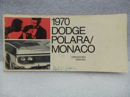 Dodge Polara 1970 Owners Manual 16330 - $18.76