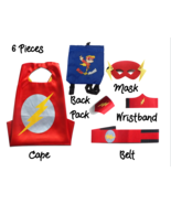 Super Hero Capes for Kids Halloween Costumes | 5pc Set | Lightning Boy 4-10 - $17.81