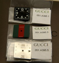 New Gucci Replacement Dial for 7700 L Watch-  Black - G/R/G - Silver - $34.95