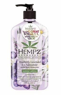 HEMPZ BLUEBERRY LAVENDER & CHAMOMILE Moisturizer, Limited Edition  - 17 oz.