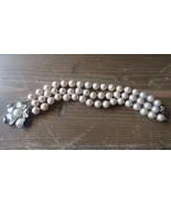 Vintage Alice Caviness Perle Synthétique Multi Brins Bracelet 19.1cm X 2... - $80.08