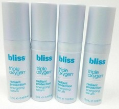 Lot of 4 - Bliss Triple Oxygen Radiant Protection Energizing Serum 0.16 ... - $9.05