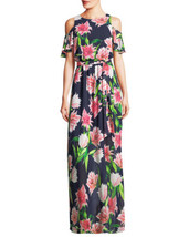 An item in the Fashion category: Eliza J Cold Shoulder Floral Gown SZ 22W ($138) Multi