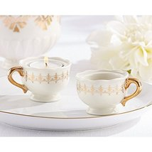 Classic Gold Teacups Tealight Holder (pack of 8) - $74.37