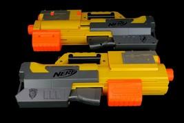 x2 Nerf N-Strike Deploy CS-6 Yellow Blaster Dart Gun Lot Red Tactical Scope - $39.95