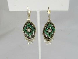 Sarah Coventry Clip on Earrings Dangle Faux Pearls 48313 - $19.79