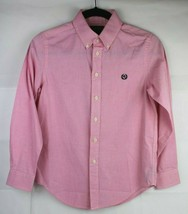 Lauren Ralph lauren youth kids shirt button front pink size 12 - $16.78