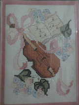 """Golden Bee VIOLIN Counted Cross Stitch SEALED Kit 60340 w/ 5"""" x 7"""" Plastic Frame - $4.95"""