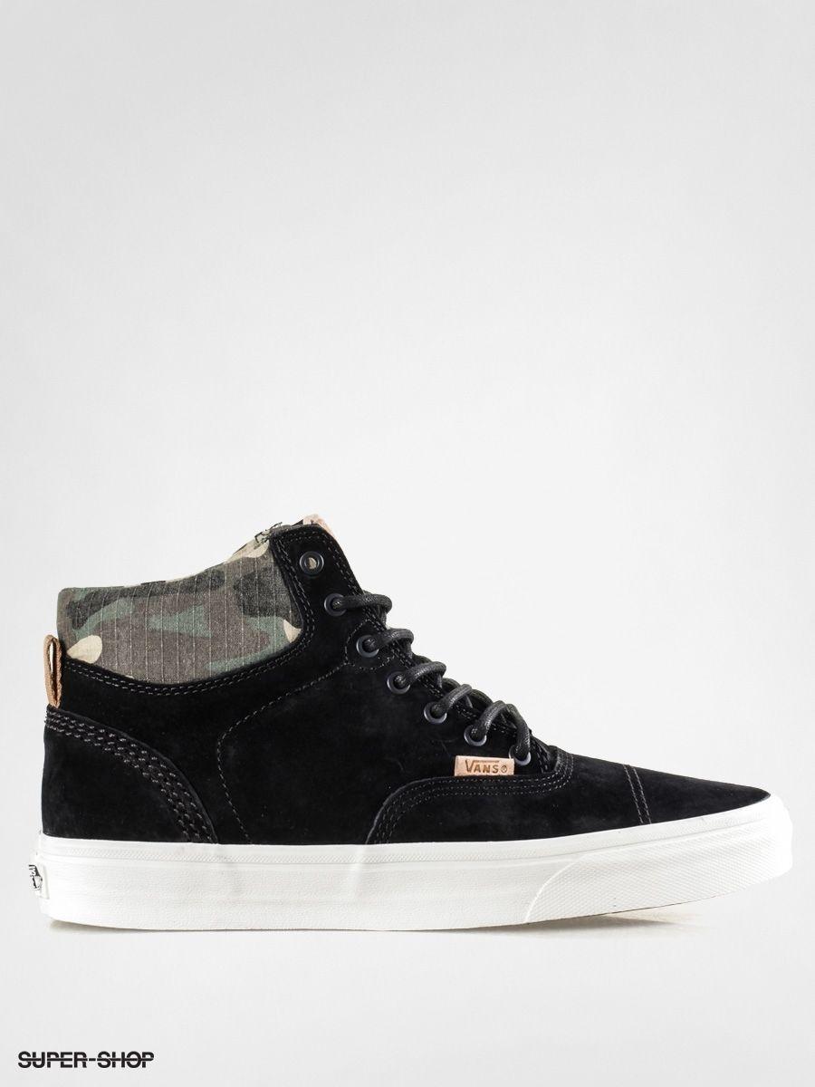189ef244f3 Vans Era Hi CA Pig Suede Black Camo Men s Classic Skate Shoes Size sz 11 sk8