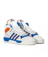 adidas Men Rivalry Shoes F34139 Crystal White Blue Orange Size 7.5 - $89.95