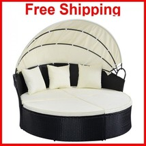 Sofa Patio Furniture Set Garden Chaise Brown With Seat Cushion Sectional... - $579.99