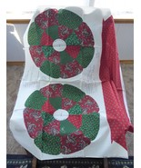 Fabric Panel Cut And Sew Christmas Memories Wreath Xmas Patchwork Cranst... - $16.00