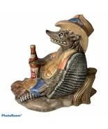 Lone Star Beer Armadillo Texas Figurine Statue Chalkware Pottery Ceramic... - $79.99