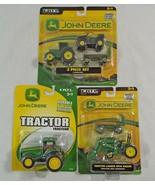 John Deere Lot of 3 Die Cast and Plastic Toy Farm Trucks by Ertl   - $24.74